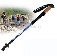 aluminium rod bar - Promotion Section aluminium alloy straight bar hiking pole Ski rod Telescopic Hiking Antishock Pole Walking Stick