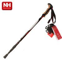 aluminum step bars - Adjustable Alpenstocks Step Aluminum Alloy section Telescopic Trekking Walking Stick Cork Handle Bar Hiking Pole