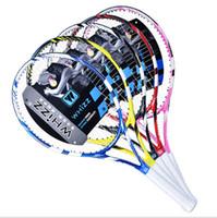 Wholesale High quality carbon fiber carbon aluminum one tennis racket tennis racquets professional carbon tennis racket