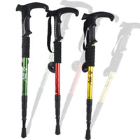best crutches - Hiking AntiShock Walking Pole Trekking Stick Crutches Gold Red Green colors options with The best price