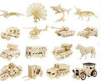crafts for children - Unfinished D Animal Car Wooden Toys Puzzle for Kids Model Building Kits Art amp amp Craft Toy for Children