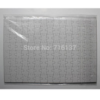 Wholesale A5 DIY Sublimation Puzzles blank pearl Jigsaw