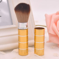 aluminum domes - Retractable Dome Blush Brush Aluminum Eyeshadow Brushes Make up Accessories Cosmetic Makeup Tools Women Girls Y55 HJ0060 M5