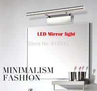 Wholesale cm Length W Degree Adjust Modern LED Bathroom Mirror Light Stainless Steel Vanity LED bathroom Mirror Lighting Wall Lamps