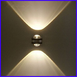 Wholesale Hot sale W crystal convex lens led wall lamp AC85 V led wall light include driver for living room home decoration luminaire
