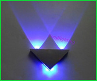 Wholesale Modern Led Wall Lamp W AC85 V Fashion Home Decoration Indoor Triangle Multi Color Wall Lights For Home GUANG BD