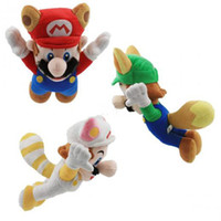 fire fox - Super Mario Brothers Plush Figure quot Raccoon Tanooki Mario Kitsune Fox Luigi White Racoon Fire Mario
