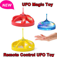 Wholesale Hot Remote Control UFO toys Hovering andFloating UFO Flashing LEDs Auto induction Infrared Helicopter Magic with Obstacle Sensor