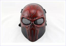 Proteger a paintball en venta-Al por mayor-Wargame Máscara de Airsoft Paintball del cráneo Mascarilla Facial Chastener Oído-protector de fiesta de Halloween CS Cosplay proteger la cara Masj