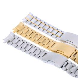 2017 bandas de acero inoxidable enlaces Al por mayor-New Classic de acero inoxidable reloj de correa de la venda recta End pulsera Enlaces 18mm / 20mm / 22mm / 24mm Sólo para ti bandas de acero inoxidable enlaces Rebaja