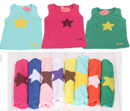 Wholesale children T shirt New Big Star variety Color Tank Tops for Girl Boy Infant Toddlers suits T