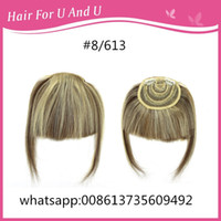 Wholesale New coming good quality human hair clip on Fringe hair bangs estensions easy to wear