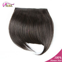 Wholesale human hair bangs with clips color b in stock