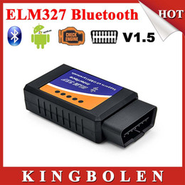 Wholesale-2015 New Arrival Supports OBD II Protocols ELM 327 Bluetooth V1.5 OBD-II OBD2 Diagunostic Scanner Free Shipping