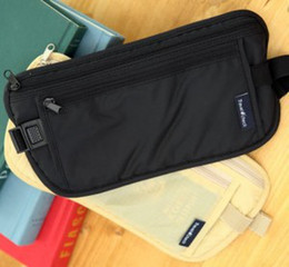 Wholesale-Coin Purse Security Hidden Travel Wallet Pouch Money Belt Passport Holders Change Leisure Waist Bags Safe Strap