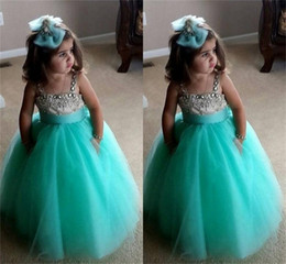 2015 Hunter Beaded Litte Girls Dresses Puffy Ball Gown Floor Length Little Formal Dresses Adorable Flower Girls Dress Little Girls Dress