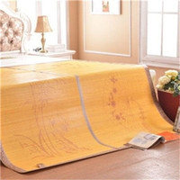 bamboo quilt cover - DHL summer style set double side bamboo folding bed mattress protector cover waterproof quilt rattan mat