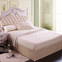 air mite - Modern luxury super soft autumn and winter thicken cotton plaid air permeable quilted fitted mattress cover bedspread