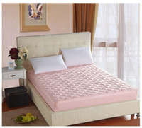 Wholesale one piece quilted Bed Protection Pad PONGEE cotton elastic Mattress Cover x200cm x200cm x200cm