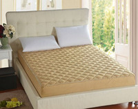 Wholesale one piece quilted Bed Protection Pad PONGEE cotton single double queen elastic Mattress Cover with stuffing fillings