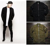 mens designer clothes - 2015 fashion extreme winter coats mens designer clothes men urban clothing long flight bomber side zip jacket men coats