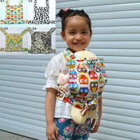 baby sling fleece - New OWL DOT Baby Doll Carriers Mei Tai Sling Toy For Kids Children Toddler Cotton Fleece Front Back