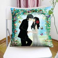 Wholesale Precision printing D stitch pillow happy new couple love romantic wedding latest pillow Conventions