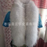 arctic fox tails - F029 Hot Sale New Fashion Winter Warm FUR BLUE Fox Arctic FOX TAIL Real Fox Fur Scarf Collar Men amp Women Long