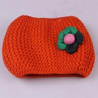 Venta al por mayor a 2015 Red otoño y el invierno cálido amarillo caramelo bufanda de los niños del bebé de las muchachas hechas punto O-Bufanda Niños cuello caliente Wraps, envío libre