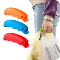bean bags shopping - Sillicon Bean Pattern Soft Shopping Bag Handbag Holder Hand Protector