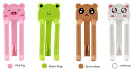 Wholesale Cute Cartoon Rubbish Bag Clip brown bear Household Garbage Bags Clips Anti skid Trash Clip Holder