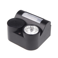 animal repellent sound - New for Yard Garden PIR Motion Sensor Animal Bats Birds Repeller Repellent Sound Gunshot Flashlight Square Meters