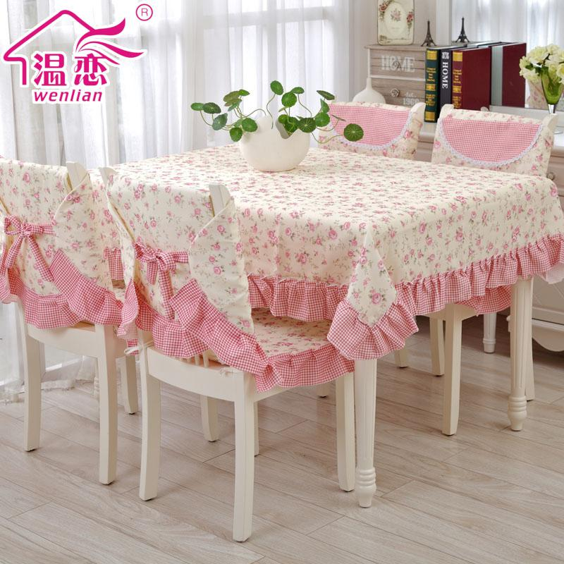 wholesale rustic pink table cloth dining table chair cover