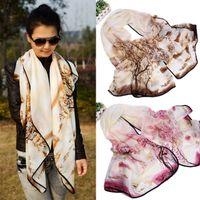 Wholesale Women Tree Print Wrap Shawl Scarf Sarong Soft Long Voile Stole Scarves Suzie