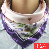 bank uniforms - Wear scarves stewardess uniforms decorated mobile banking Variety silk printed scarf female small square F24