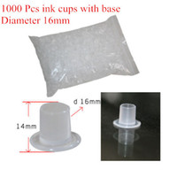 Wholesale Hot Sale White Tattoo Ink Cups Plastic Caps with Base Large Size mm for Needle Ink Tattoo Supply