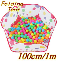Cheap Wholesale-Brand New High Quality Children Kids Play Tent Outdoor - Indoor Play Game Loldable Tent for Birthday Gift Funny Tent 100 cm