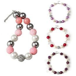 2017 colliers de perles Gros-2015 41cm vente chaude Gumball perles enfants Chunky Collier Bubblegum pour les enfants anniversaire 2Pcs cadeau solide Boule Perles Colliers peu coûteux colliers de perles