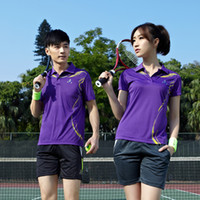 Wholesale Spring and summer tennis short sleeve badminton fast drying clothing polo shirt sports t shirt lovers