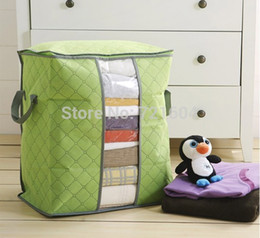Wholesale Bamboo charcoal material quilt storage box Dust proof clothes storage box Environmental protection receive bag