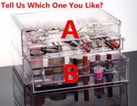 Wholesale LARGER AND DEEPER Acrylic Crystal Clear Cosmetic Makeup Organizer Addable Draw cm cm cm Each
