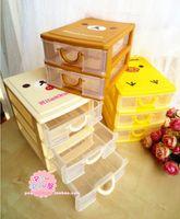 Wholesale rilakkuma bear chikent case plastic jewel boxes princess Europe style jewelry armoire make up box jewelry box