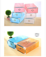 Wholesale Creative Diy Transparent Storage Drawers For Women Shoes Thick PP material