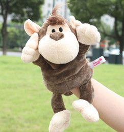 Wholesale Super cute pc cm nici lucky monkey hand puppets plush game doll stuffed toy children baby infant sleeping gift