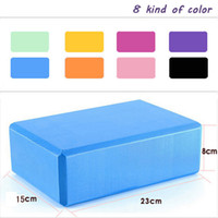 Wholesale Many Colors Square Yoga Blocks Foam Brick Home Exercise Practice Fitness Gym Equipment