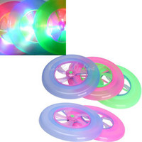 Wholesale Colorful LED Light Spin Flywheel Outdoor Flying Saucer Disc Frisbee Kid Toy FCI