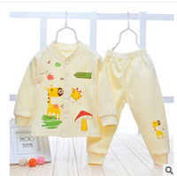 baby trend - Hot sale baby sweater autumn winter fashion newborn baby cotton cardigan suit baby sweater coat pants trend baby suit