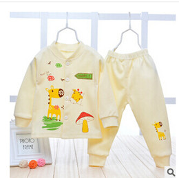 Wholesale Hot sale baby sweater autumn winter fashion newborn baby cotton cardigan suit baby sweater coat pants trend baby suit