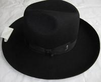 Wholesale Black Israel Jewish Hat Wool Felt Fedora Hat for woman man wide brim cm winter autumn vintage dress Jew hat chapeau