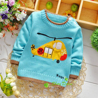 airplanes and babies - Spring and Autumn baby boys cartoon cool airplane sweaters children sweater VK1799 B
